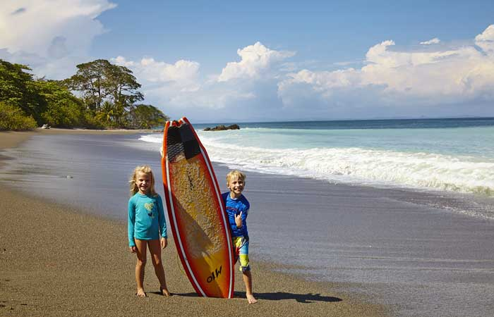 Kids-and-surf-board